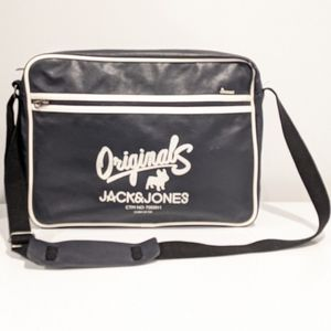 Jack & Jones navy blue messenger bag